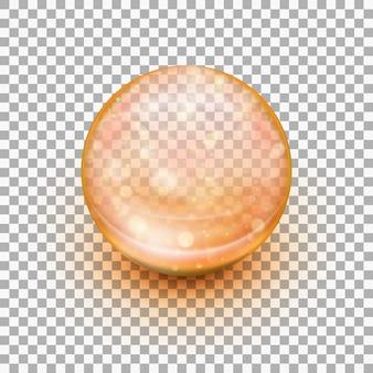 Capsula in gel morbido trasparente.