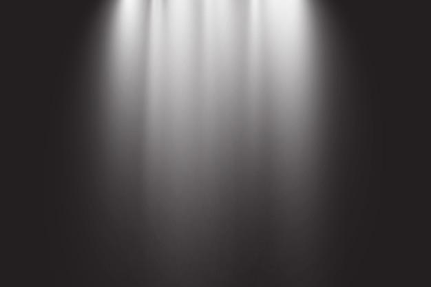 Luce solare trasparente. scena illuminata da riflettori. effetto luce su sfondo trasparente.