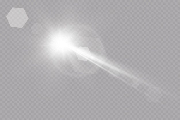 Luce solare trasparente speciale lente bagliore effetto luce