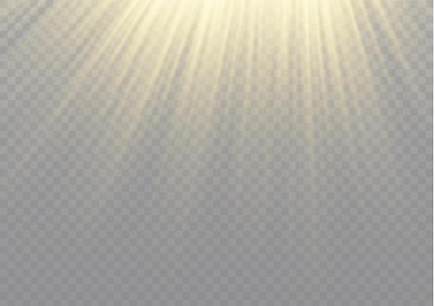 Effetto luce flash con lente speciale luce solare trasparente.