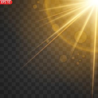 Effetto luce flash con lente speciale luce solare trasparente