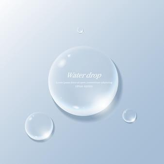 Gocce d'acqua trasparenti oggetto goccia d'acqua