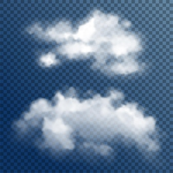 Nuvole bianche trasparenti