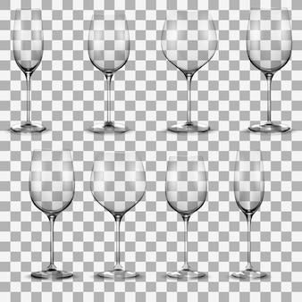 Set di bicchieri da vino trasparenti. set di bicchieri da vino