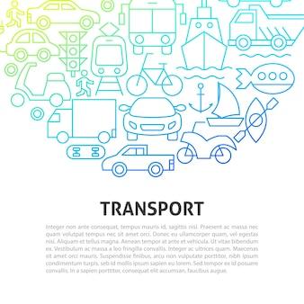 Concetto di linea di trasporto. illustrazione di vettore del disegno del profilo.