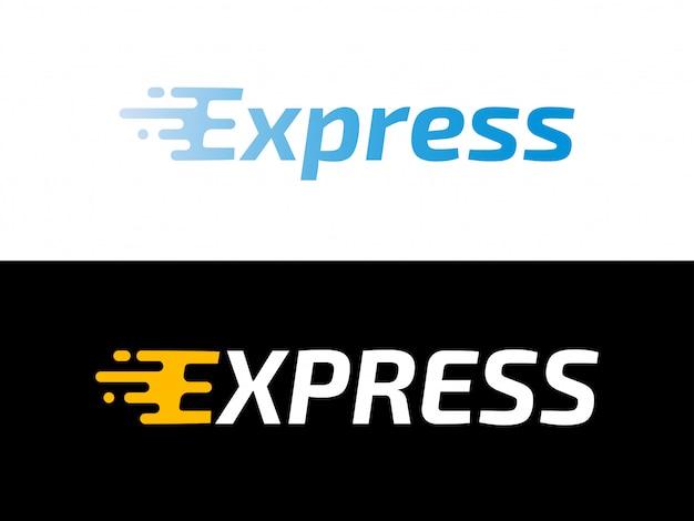 Logistica di trasporto logo di consegna espresso
