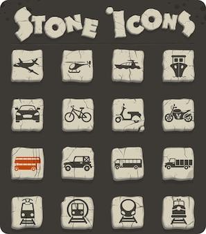 Icone vettoriali di trasporto per il web e la progettazione dell'interfaccia utente