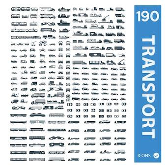 Mezzi di trasporto collezione di icone