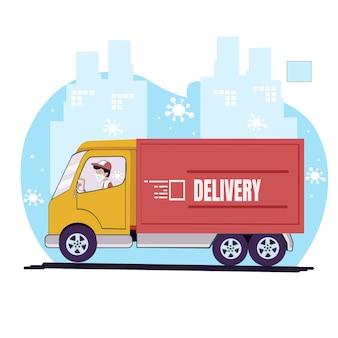 Camion del pacchetto di consegna del trasporto