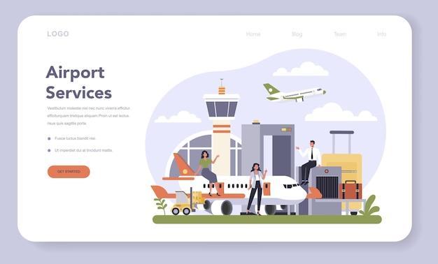 Settore delle infrastrutture di trasporto del banner web o della pagina di destinazione dell'economia