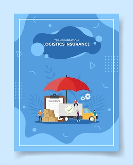 Persone di assicurazione logistica del trasporto intorno al pacchetto della scatola di consegna del camion
