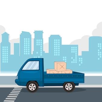 Trasporto ritiro inviare il pacco