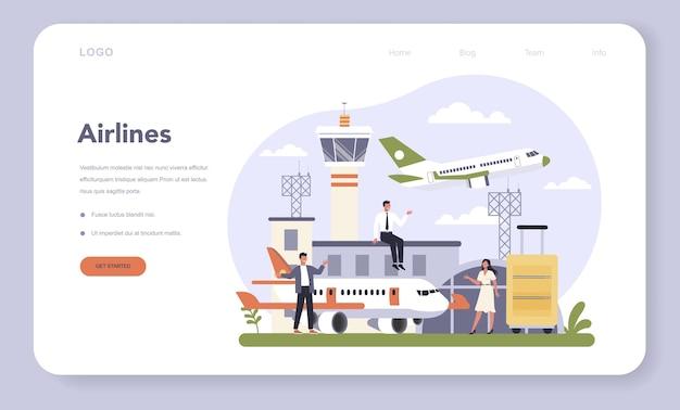 Banner web o pagina di destinazione del settore dei trasporti dell'economia