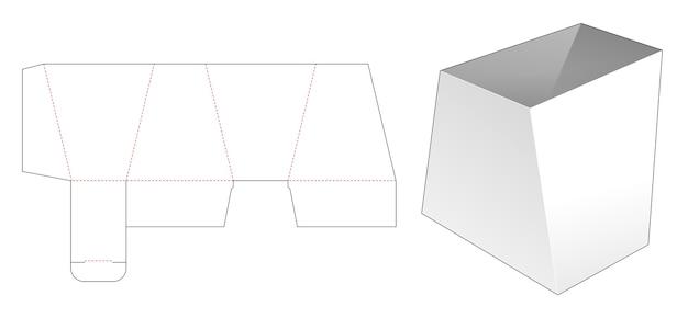 Modello fustellato di ciotola a forma trapezoidale