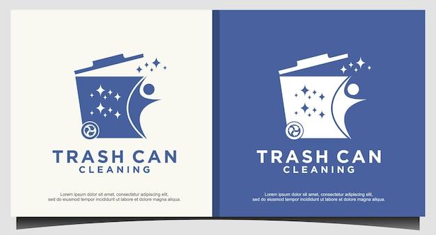 Modello di progettazione del logo del cestino della spazzatura