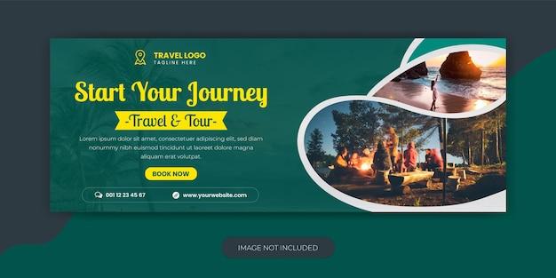 Agenzia di viaggi vacanza vacanza facebook cover template design e web banne