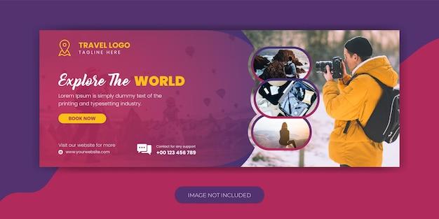 Agenzia di viaggi vacanza vacanza facebook cover template design