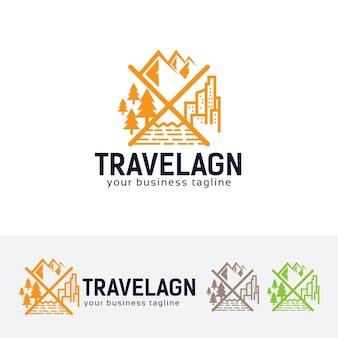 Modello logo agenzia di viaggi