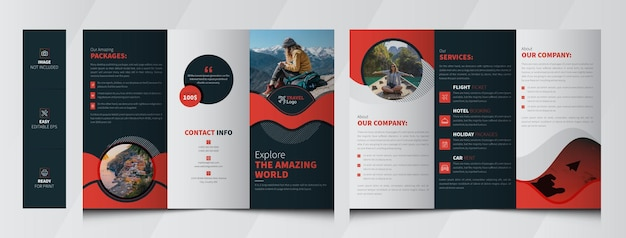 Brochure a tre ante per agenzia di viaggi
