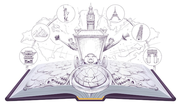 Fai il giro del mondo in 80 giorni libro aperto