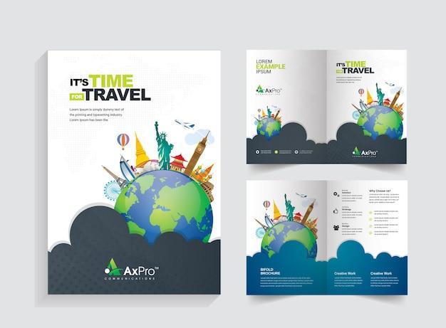 Brochure bifold da viaggio