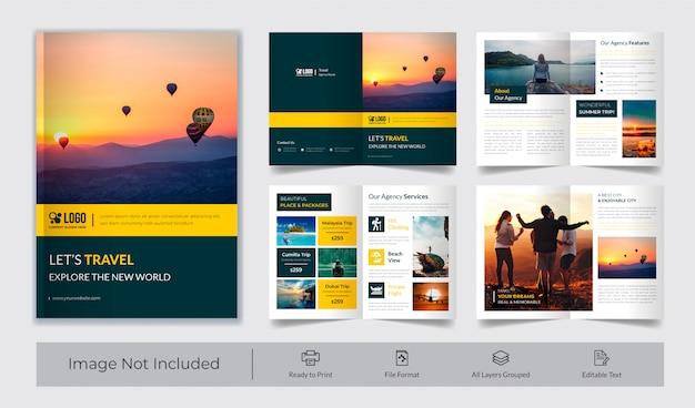 Modello di brochure di viaggio