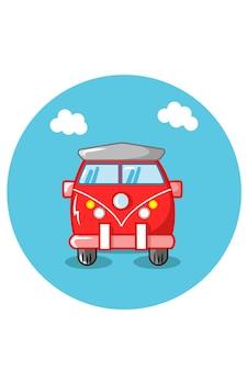 Illustrazione vettoriale del furgone dell'auto da viaggio