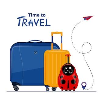Illustrazione del concetto di viaggio in stile piatto design