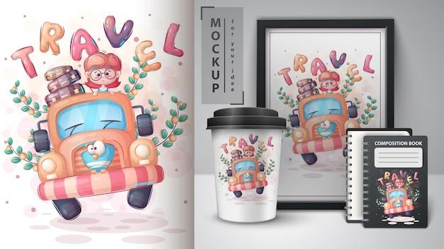 Poster e merchandising per ragazze di viaggio
