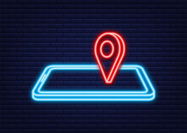 Icona di viaggio per il web design. icona di affari. stile neon. illustrazione vettoriale.