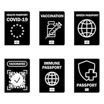 Documento immunitario di viaggio controllo covid19 nell'unione europea passaporto sanitario verde