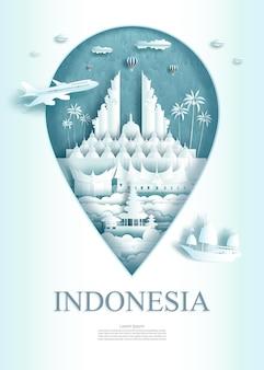 Monumento di architettura dell'indonesia di viaggio