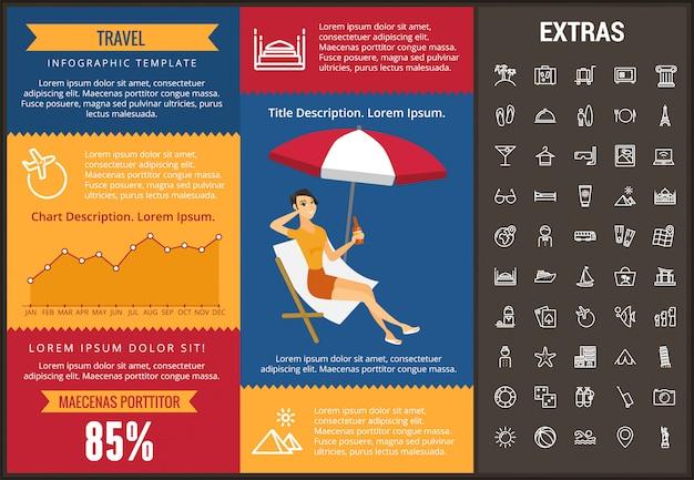 Viaggia modello infografica, elementi e icone