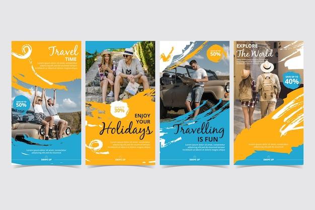 Modello di raccolta di storie di instagram di viaggio