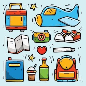 Viaggio kawaii cartoon doodle design