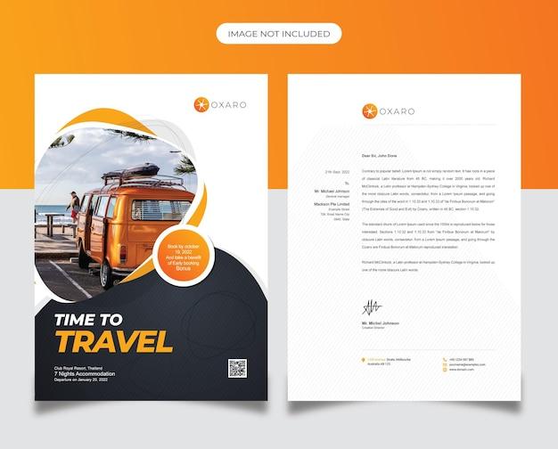 Modello di carta intestata di viaggio