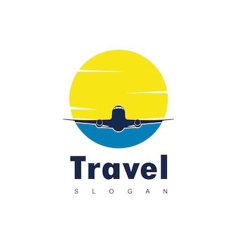 Viaggi logo design vettoriale