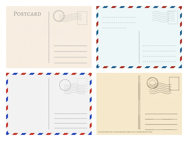 Modelli di cartoline di viaggio