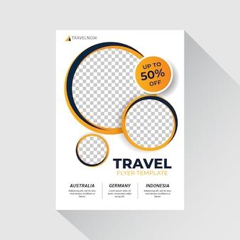 Illustrazione di volantino di vendita di viaggio