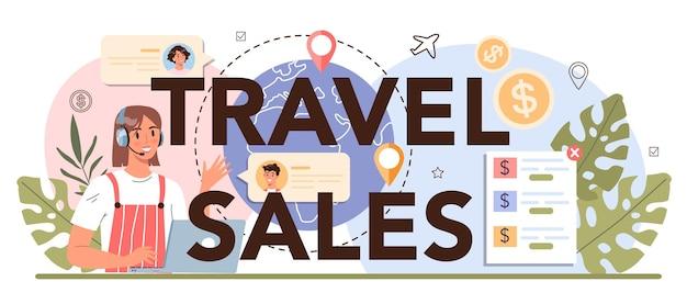 Intestazione tipografica delle vendite di viaggio