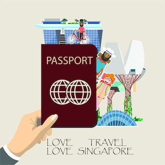 Viaggia l'infografica di singapore.