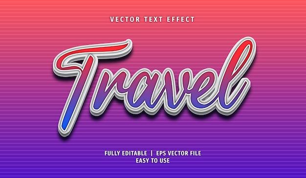 Effetto testo di viaggio stile di testo modificabile