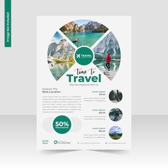 Modello di volantino a4 per agenzia di viaggi e turismo o volantino aziendale