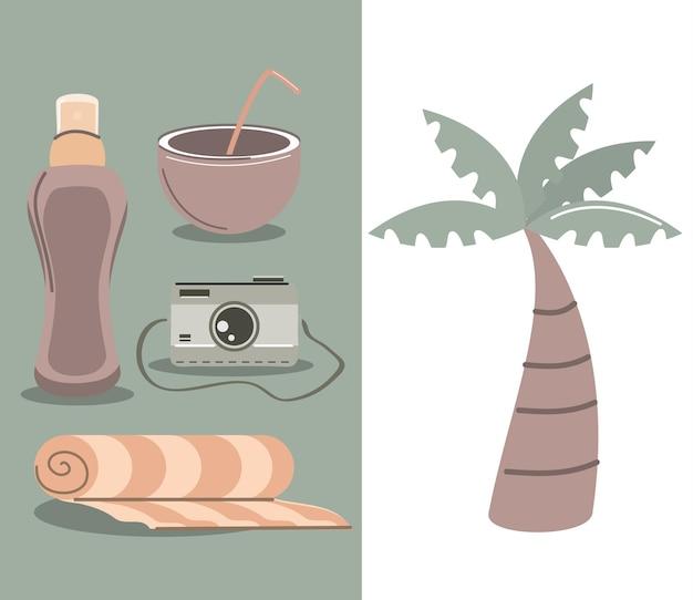 Set tropicale da viaggio