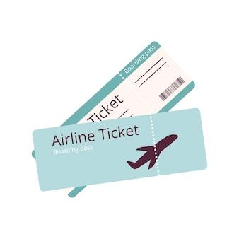 Biglietti aerei per viaggi e vacanze, documenti icona e abbonamento aereo