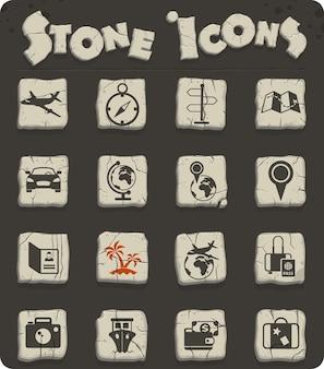 Icone vettoriali di viaggio per il web e la progettazione dell'interfaccia utente