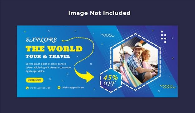 Modello di banner web di viaggio