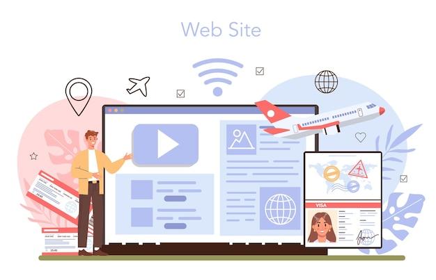 Servizio o piattaforma online per viaggiare all'estero. approvazione della domanda di visto