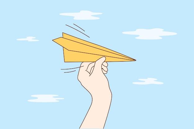 Viaggi, affari, consegna, concetto di volo.