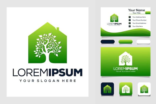 Logo e biglietto da visita della casa sull'albero